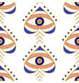 evil eyes seamless pattern vector image vector image