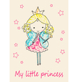 Fairy Tale Princess greeting card vector image