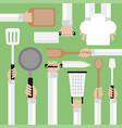 flat modern design concept cooking tools vector image vector image