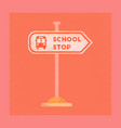 flat shading style icon school stop sign vector image vector image