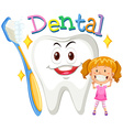 Girl with clean teeth vector image
