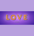 glowing letters love be my valentine vintage vector image vector image