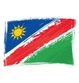 Grunge Namibia flag vector image vector image