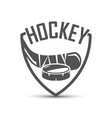 hokey emblem with shadow vector image vector image