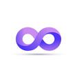 infinity logo symbol loop icon infinite 8 mobius vector image vector image