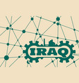 iraq word build in gear vector image vector image