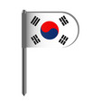 isolated flag of south korea vector image vector image