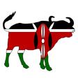 Kenya cape buffalo vector image vector image