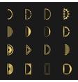 Letter D set vector image