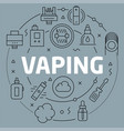 linear vaping vector image