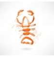 lobster grunge icon vector image