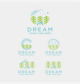 logo home night scenery in forest vector image vector image