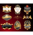 luxury labels vector image vector image