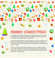 merry chistmas postcard vector image