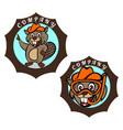 modern beaver logo vector image vector image