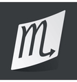 Monochrome Scorpio sticker vector image vector image