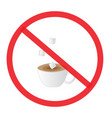 no sugar not allowed sign vector image vector image
