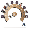 Office meeting top view set 4 vector image vector image