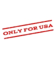 Only For USA Watermark Stamp vector image vector image