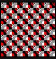 pattern skull red white vector image vector image