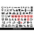 public icons advertising and marketing icons vector image vector image