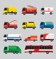 Public Utility Vehicles Object Set vector image