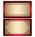 red and gold vintage backgrounds with brown vector image vector image