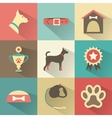 Retro dog icons set for web mobile vector image vector image