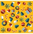 Seamless background Merry christmas vector image vector image