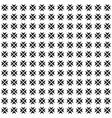 seamless pattern geometric texture cross flower vector image