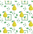 Seamless pattern with green pears and leaves vector image vector image