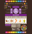 selenium mineral supplement rich food icons vector image vector image