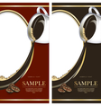 Set of black and red labels for chocolate or coffe vector image