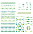 Set of decorative elements brushes border vector image vector image