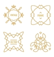 Set of Elegant lineart logo design elements vector image vector image