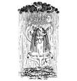 shaman and rain vector image