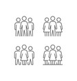simple set people icons vector image vector image