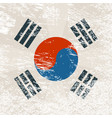 south korea grunge flag with little scratches vector image