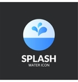 Splash logo template vector image