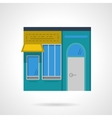 Storefronts flat color icon Cafe facade vector image vector image