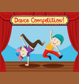 street dance competition on stage vector image vector image