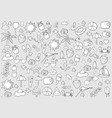 summer symbols and objects drawing by hand vector image vector image