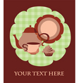 tea cup set vector image vector image