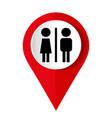 toilets icon restroom includes lady vector image vector image