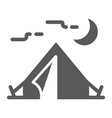 tourist tent glyph icon travel and tourism vector image