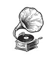 vintage musical gramophone drawn antique vector image