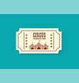 vintage retro circus ticket vector image vector image