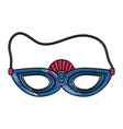 woman party mask vector image