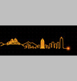 zhengzhou light streak skyline vector image vector image