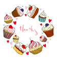 Greeting card with cake vector image
